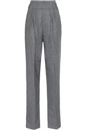 Isabel Marant Pantalon Magali en laine à carreaux à taille haute