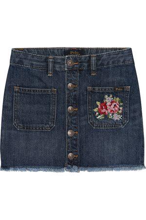 Ralph Lauren Mini-jupe brodée en jean