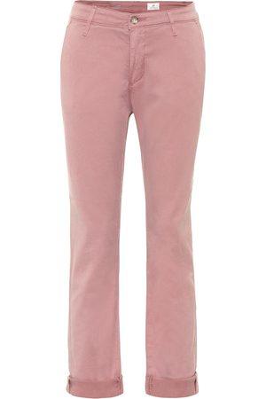 AG Jeans Femme Taille haute - Jean droit Caden Chino à taille mi-haute