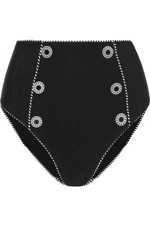 JONATHAN SIMKHAI Femme Bikinis - Culotte de bikini Luxe Piped à taille haute