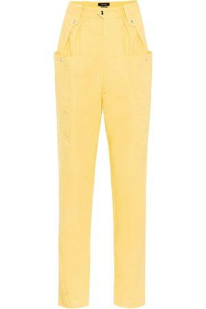 Isabel Marant Pantalon Yerris à taille haute en coton