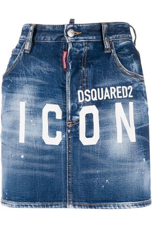 Dsquared2 ICON logo denim skirt