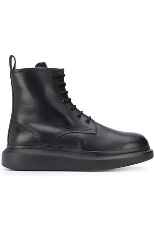 Alexander McQueen Bottines oversize à lacets