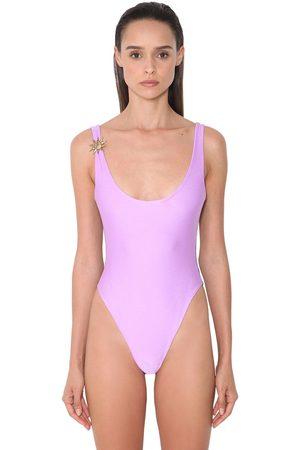 FAUSTO PUGLISI Bicolor Lycra One Piece Swimsuit