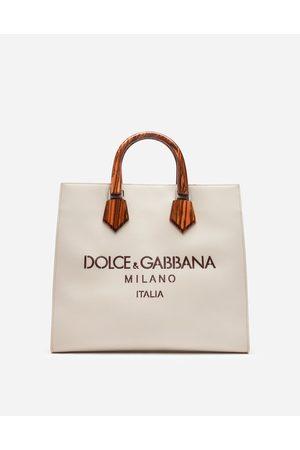 Dolce & Gabbana Collection - CABAS DESIGN LOGO EN CUIR DE VEAU AVEC LOGO AJOURÉ AU LASER