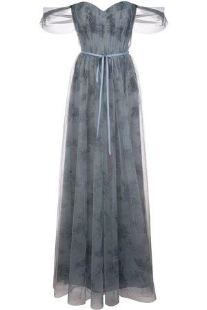 Marchesa Notte Robe longue à design bustier en tulle