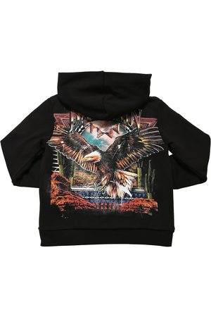 Balmain Printed Cotton Zip-up Sweatshirt