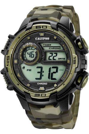 Calypso Homme Montres - Montre K5723-6 - Montre Chronographe Verte Homme