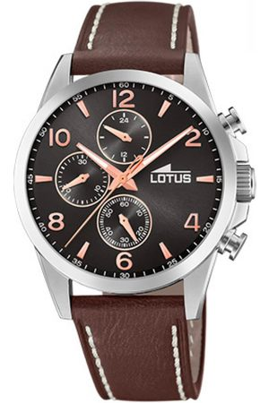 Lotus Montre CHRONO 18630-3 - Montre Chrono Bracelet Cuir Homme