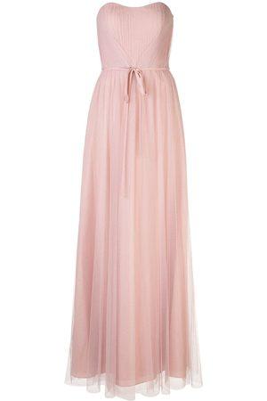 Marchesa Notte Bridesmaids Robe longue en tulle à design bustier