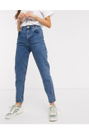 Pull&Bear Jean mom avec taille élastique