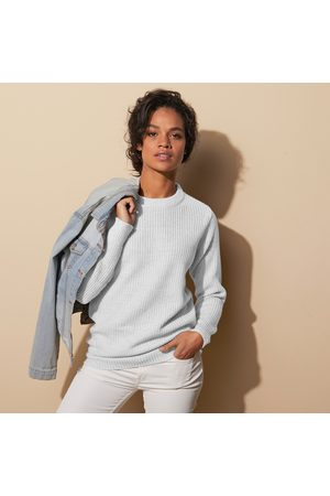 BLANCHEPORTE Pull col rond maille anglaise