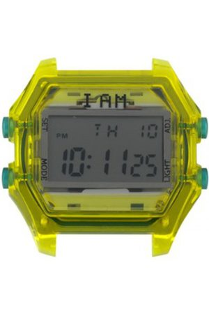 I Am The Watch Montre IAM-109 - Boîtier Jaune Translucide Boutons Vert / Ecart Corne 20 mm