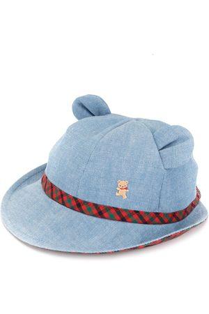 Familiar Chapeau en denim à détail d'oreilles