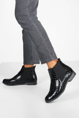 Boohoo Bottines Chelsea Larges Wide Fit Croco