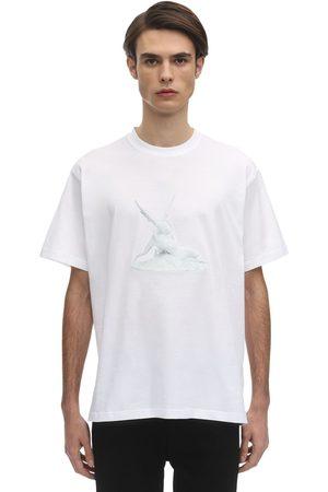 Burberry T-shirt Ample En Jersey De Coton Imprimé