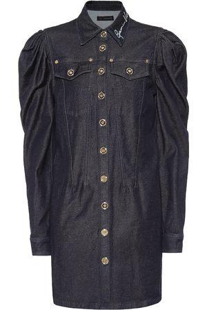 VERSACE Robe brodée en jean