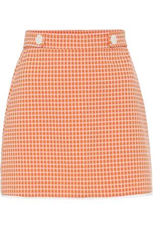 Miu Miu Femme Jupes imprimées - Mini-jupe à carreaux