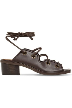 Stella McCartney 40mm Faux Leather Lace-up Sandals