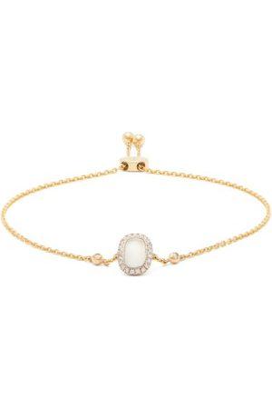 Anissa Kermiche Bracelet en à diamants et pierre de lune June