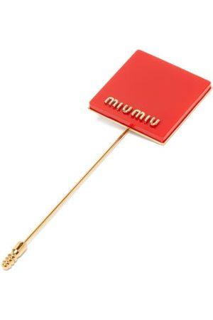 Miu Miu Broche épingle à plaque ornée du logo