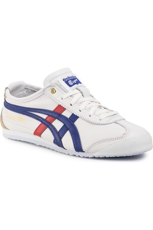 Onitsuka Tiger Femme Baskets - Sneakers - Mexico 66 D507L White/Dark Blue 0152