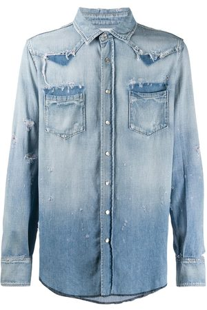 Saint Laurent Chemise d'inspiration western en denim