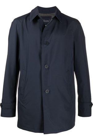 HERNO Point-collar button-through coat