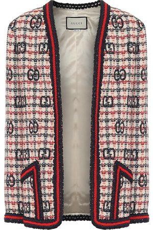 Gucci Veste en tweed de laine mélangée à carreaux
