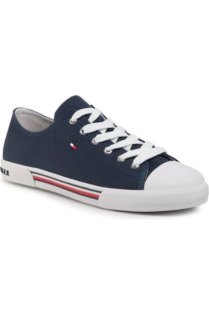 Tommy Hilfiger Sneakers - Low Cut Lace-Up Sneaker T3X4-30692-0890 D Blue 800