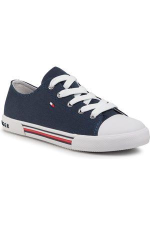 Tommy Hilfiger Sneakers - Low Cut Lace-Up Sneaker T3X4-30692-0890 S Blue 800