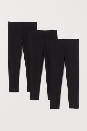 H&M Fille Leggings & Treggings - Leggings en jersey, lot de 3