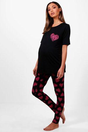 Boohoo Femme Chemises de nuit & Nuisettes - Ensemble Pyjama De Maternité Made With Love Saint-Valentin May