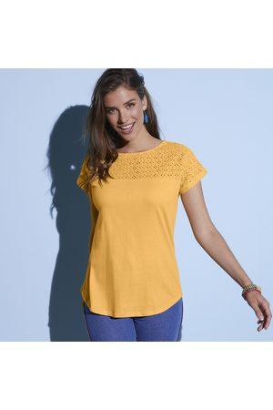 Colors & co Tee-shirt broderie anglaise manches courtes