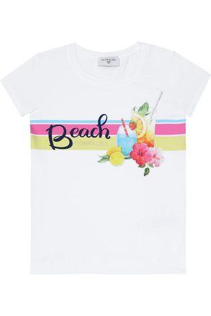MONNALISA T-shirt imprimé en coton mélangé