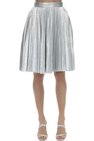 pushBUTTON Plisse Metallic Skirt