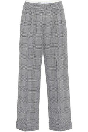 Max Mara Pantalon ample Erise en laine à carreaux