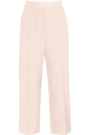 Stella McCartney Pantalon ample à taille haute en laine