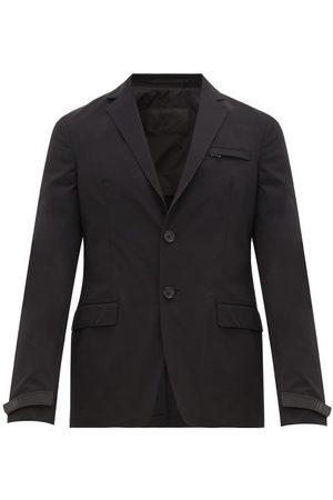 Prada Homme Blazers - Blazer en gabardine technique et poignets à logo
