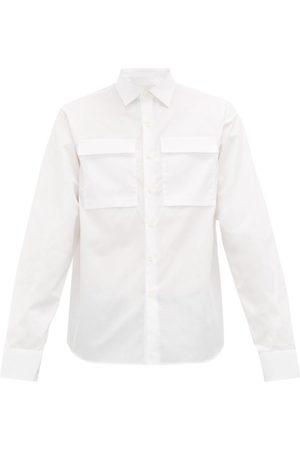 Prada Homme Business - Chemise en popeline de coton à poches à rabat