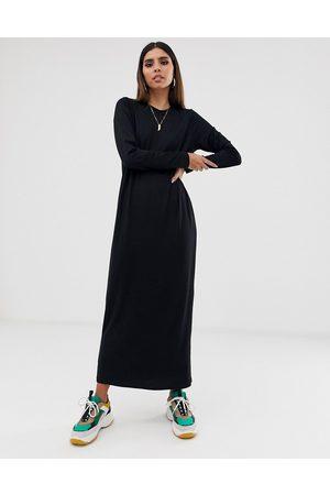 ASOS Robe t-shirt longue à manches longues