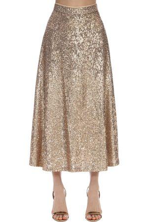 In the Mood for Love Femme Jupes midi - High Waist Sequined Midi Skirt