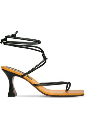 MANU ATELIER 80mm Freya Leather Lace-up Sandals
