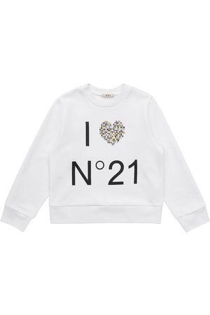Nº21 Fille Sweatshirts - Sweat-shirt En Coton Imprimé Logo