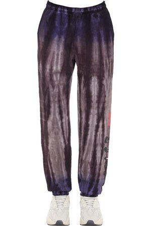 INSOMNIAC Pantalon En Coton Effet Tie Dye