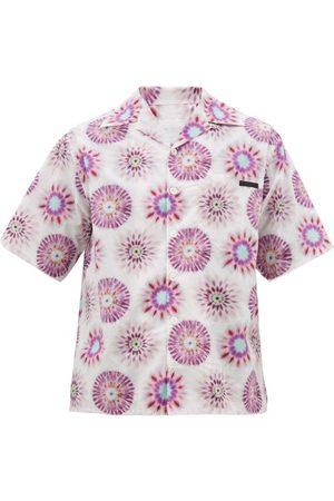 Prada Chemise en coton à imprimé tie-dye