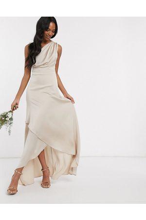 TFNC Robe longue asymétrique de demoiselle d'honneur