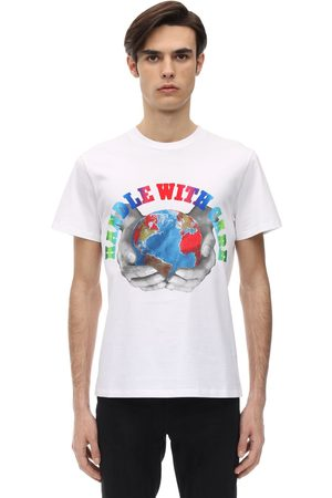 STELLA MCCARTNEY Handle With Care Print Cotton T-shirt