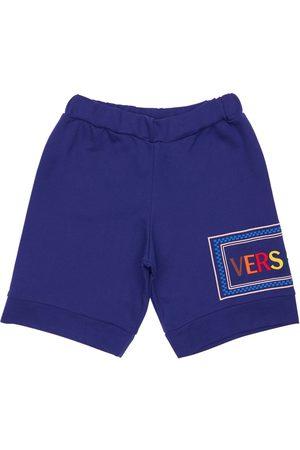 VERSACE Short En Coton Avec Logo Brodé