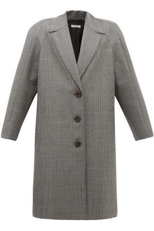 Miu Miu Manteau en laine vierge à motif pied-de-poule